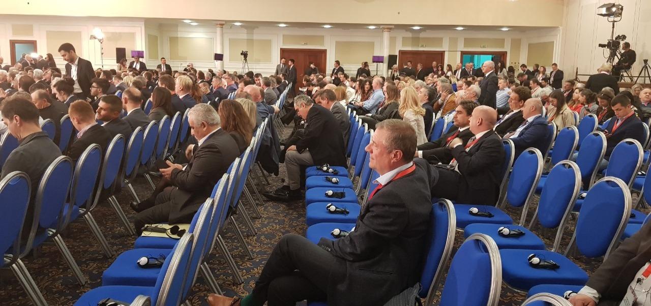 Mr. Filipov at the conference