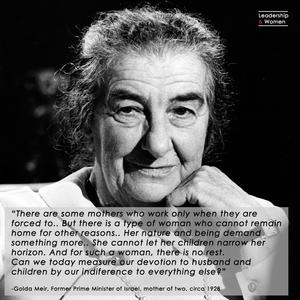Golda Meir, Motherhood, Great Leader