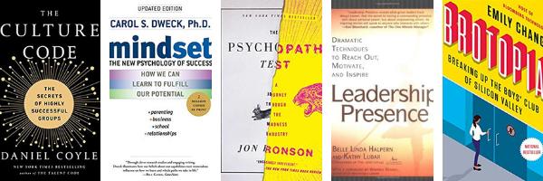 culture code, daniel coyle, mindset, carol dweck, psychopath test, jon ronson, leadership presence, Belle Linda Halpern, Kathy Lubar, Brotopia, Emily Chang