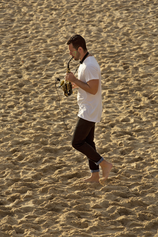 Saxophone player Bondi, Sydney