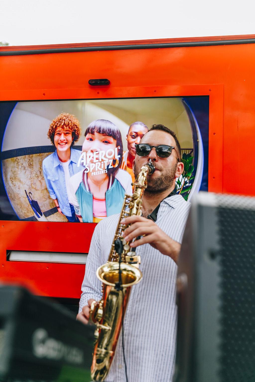 Sax & DJ Sydney Event Party Hire Aperol Spritz Summer