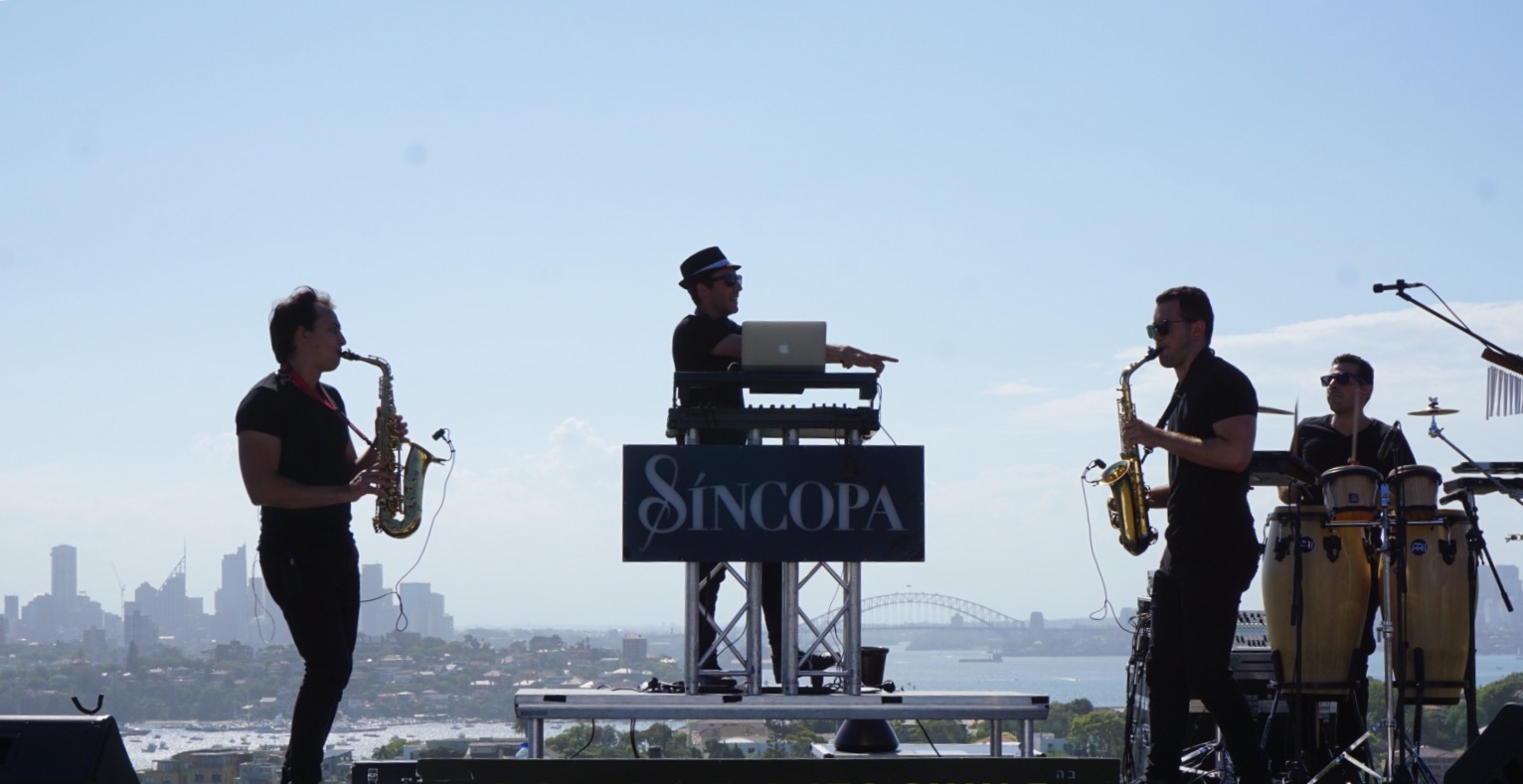 Sincopa Trio overlooking Sydney