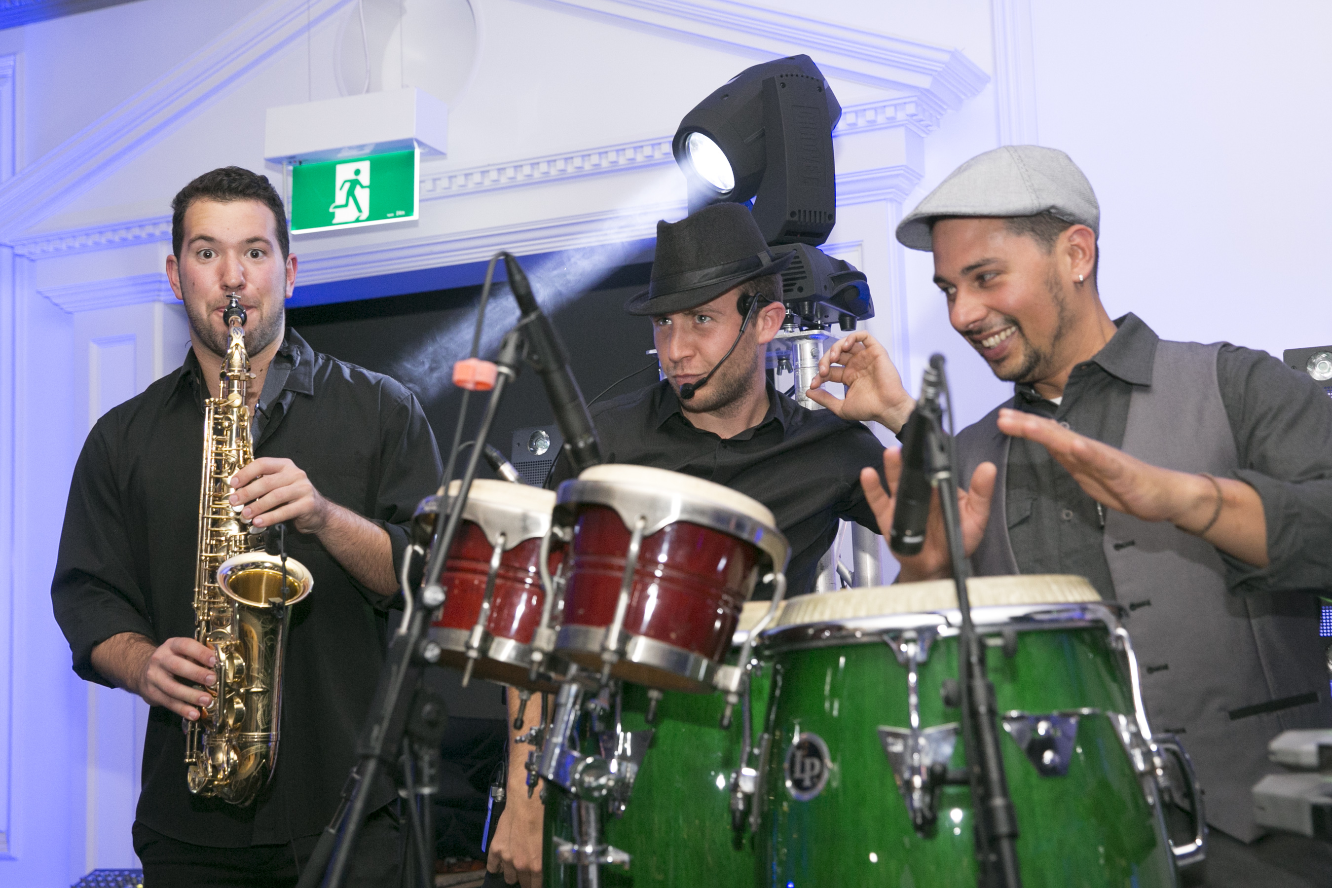 Sax DJ Percussion trio