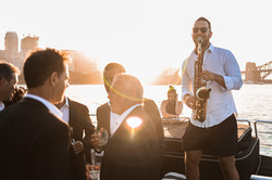 Sax Player Boat Party Sydney Harbour High End Private Events