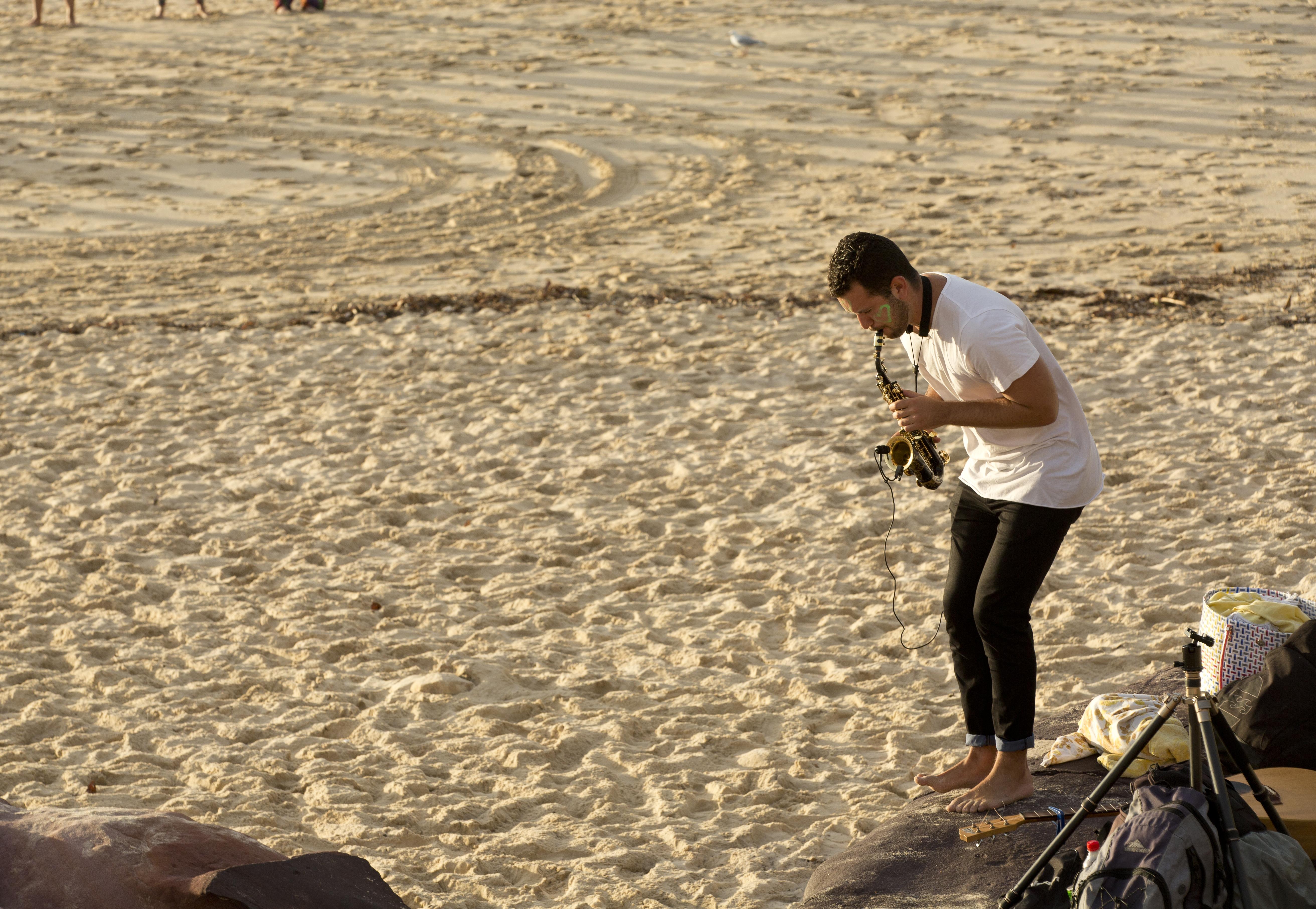 Saxophone player Bondi Beach