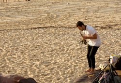 Saxophone player Bondi Beach