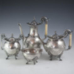 Civil-War-Gorham-Sterling-Silver-Tea-Set