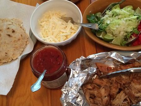 Keto Chicken Carnitas with Coconut Flour Tortillas