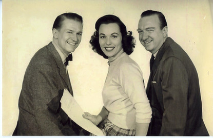 Bess with Walter Cronkite and Bud Collier