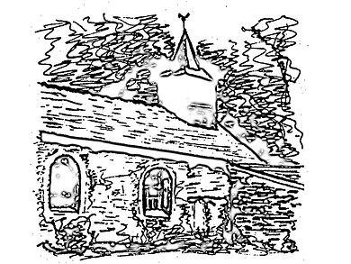 Chapelle de Cuves - Dessin de Sr Marie Luc OSM