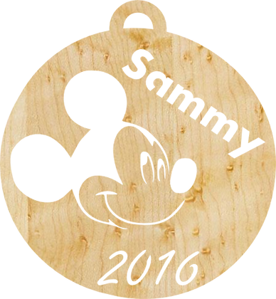 Mickey Mouse, Personalized Ornament Pattern