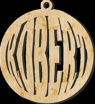 Simple Custom Name Ornament Sample