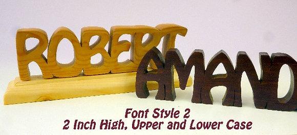 Word Art Nameplate Pattern Style #2