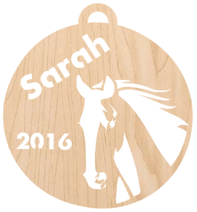 Horse Head, Personalized Ornament Pattern