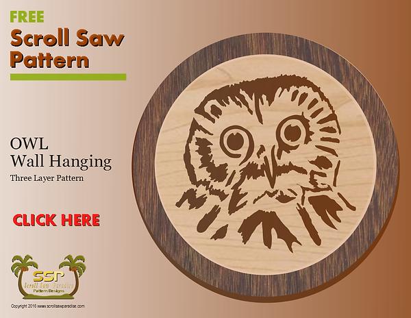 Owl Scroll Saw Pattern