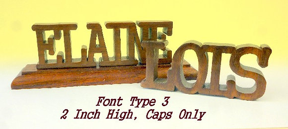 Word Art Nameplate Pattern Style #3