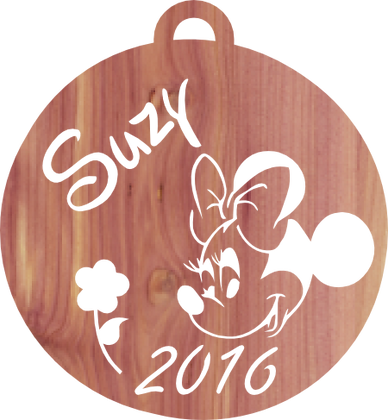 Minnie Mouse, Personalized Ornament Pattern