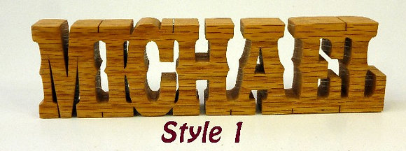 Word Art Nameplate Pattern Style #1