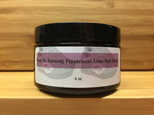 Keep on Running Peppermint Lime Foot Scrub