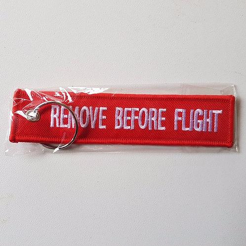 Remove before flight, keyring, aircraft tag