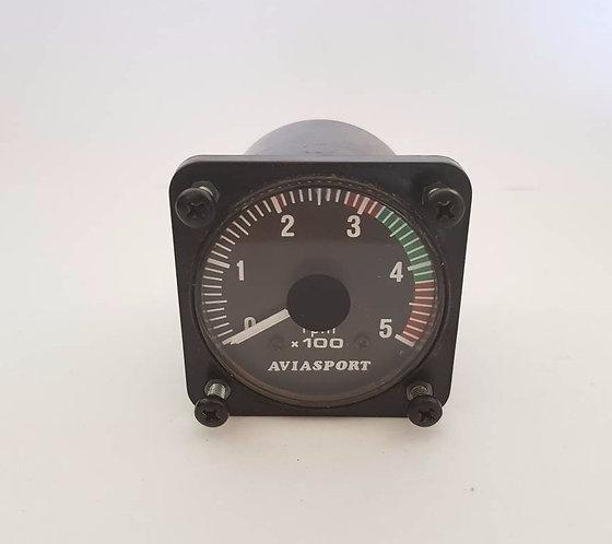 AVIASPORT GYRO ROTOR TACHOMETER 0-500RPM - 2 1/4 IN.