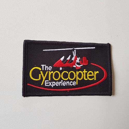 Embroidered flight suit badge 'The Gyrocopter Experience'