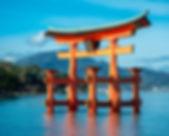 Itsukushima Shrine on Miyajima Island in Hiroshima, Japan