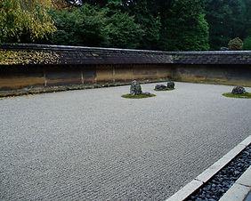 Ryoanji Zen Garden in Kyoto, Japan