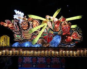 A colorful festival float at the Nebuta Festival in Aomori, Japan