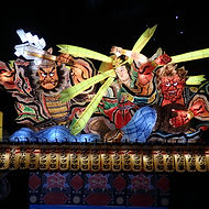 Nebuta Festival float in Aomori, Japan during our Summer Festivals small group tour of Japan.