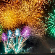 Summer festival with spectacular fireworks during our Summer Festivals small group tour of Japan.