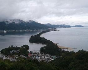 Panoramic view of Amanohashidate in Kyoto, Japan