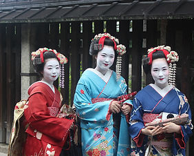 Geisha in the streets of Gion in Kyoto, Japan