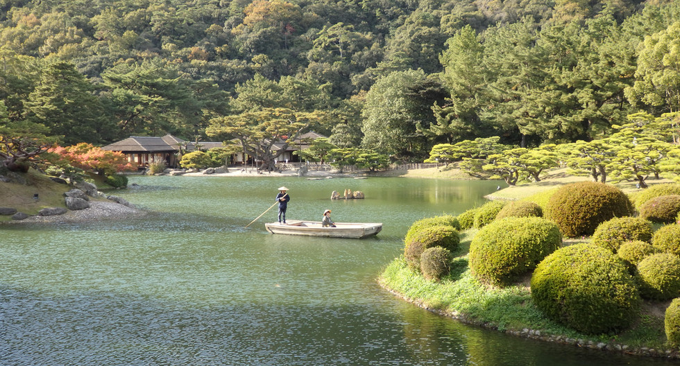 Ritsurin Japanese Garden in Takamatsu