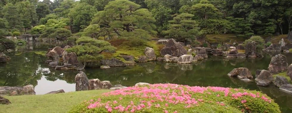 The Ninomaru Garden of Nijo-jo Castle in Kyoto