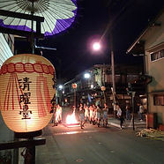 One of our fully escorted private tours of Japan at the Furukawa Festival.