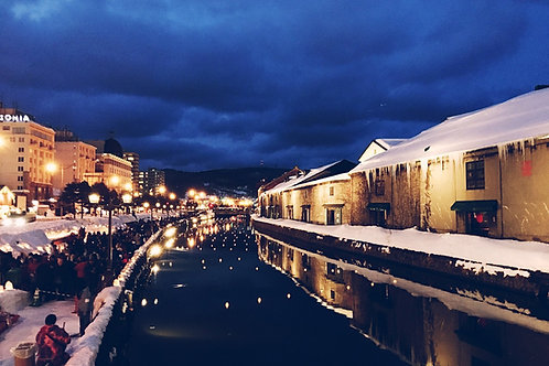 Otaru on our Winter Wonders small group tour