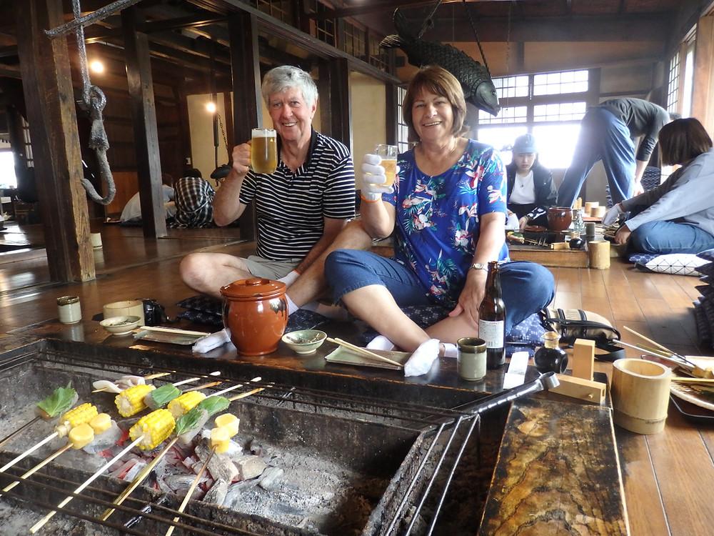 A traditional lunch near Mt. Fuji