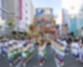 Festival floats at the Sansha Taisai Festival in Hichinohe, Japan