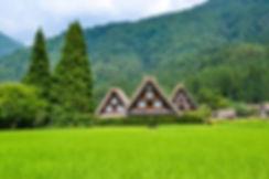 The UNESCO World Heritage listed Gokayama Village in Toyama on the Sea of Japan coastline