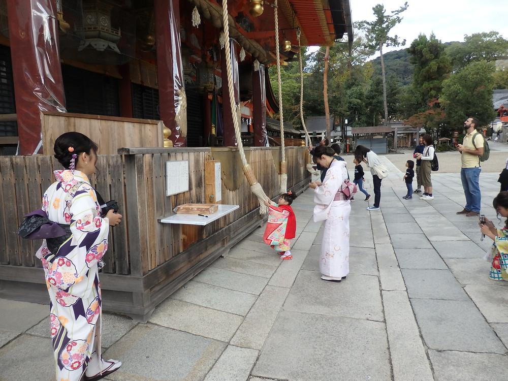 Beautiful scenes at Yasaka Shrine in Kyoto
