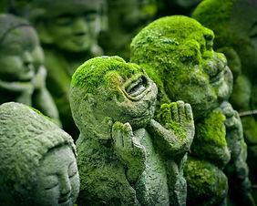Stone statues in Kawagoe, Saitama, Japan