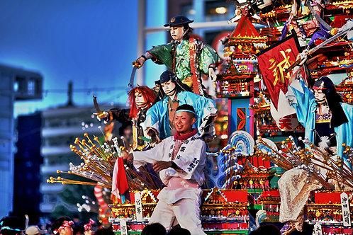 A summer festival in Japan.