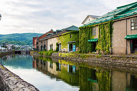 View of Otaru canal in Hokkaido, Japan