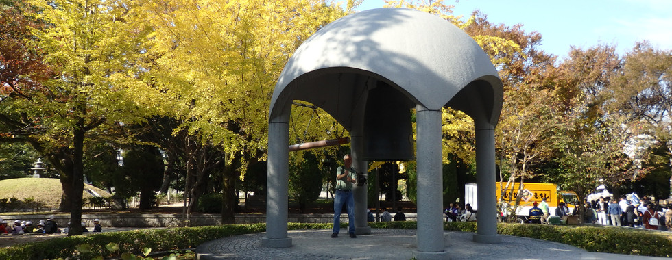 Ringing the Peach Bell in Hiroshima