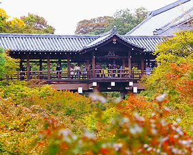 Autumn foliage at Kiyomizu-dera Temple in Kyoto, Japan
