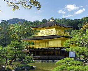 The beautiful Golden Pavilion (Kinkaku-ji) in Kyoto, Japan