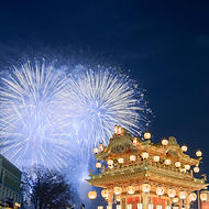 Fireworks at Chichibu Night Festival during our Shades of Autumn small group tour of Japan.