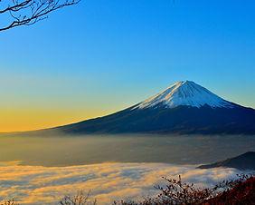 A beautiful Mt Fuji sunrise in Shizuoka, Japan