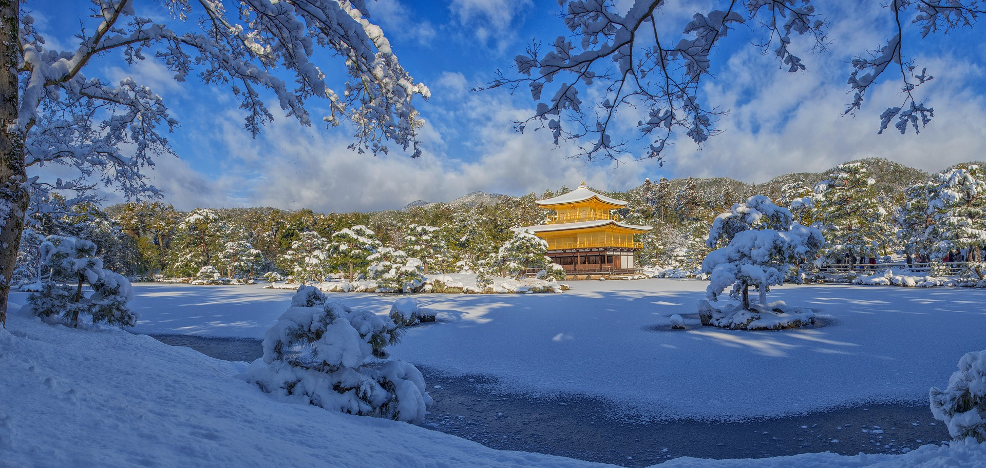 The spectacular Golden Pavilion in Kyoto, Japan